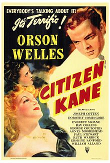 Orson Welles' Citizen Kane movie poster